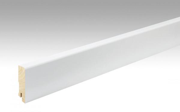 Meister Fußleiste Profil 15 FMK, weiß, mit Fichtekern