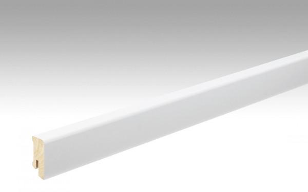 Meister Fußleiste Profil 14 FMK, weiß, mit Fichtekern