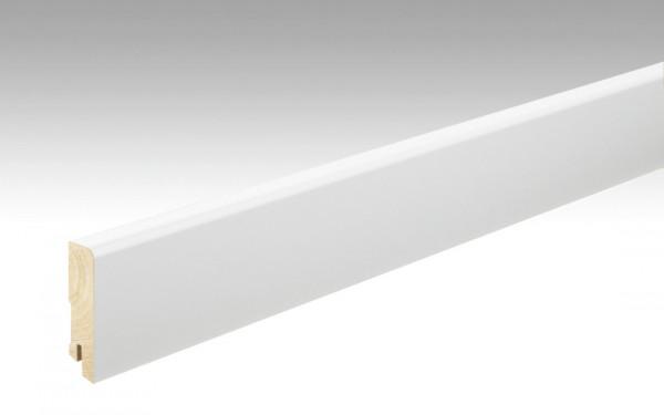 Meister Fußleiste Profil 22 FMK, weiß, mit Fichtekern